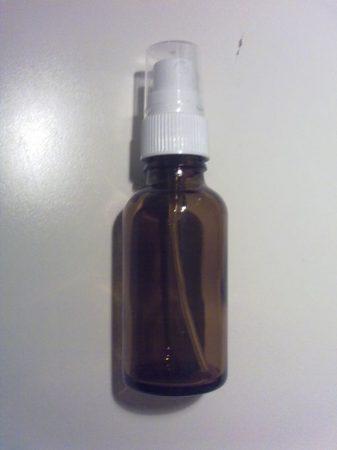 30 ml barna folyadéküveg szórófejjel